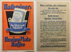 Orig. Plakat Kathreiners Kneipp Malzkaffee um 1930 Lithografie Werbung selten sf