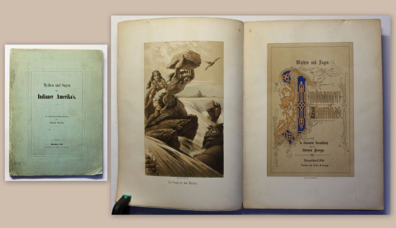 George Mythen und Sagen der Indianer Amerika´s 1856 Frontispiz Schroedter xz