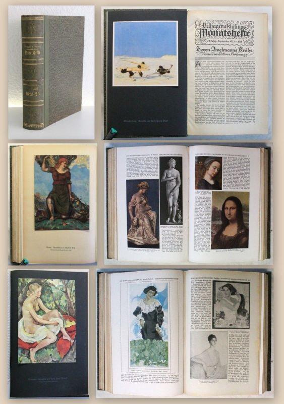 Velhagen & Klasings Monatshefte 1. Band 1923-24 Illustriert Zeitschrift xy