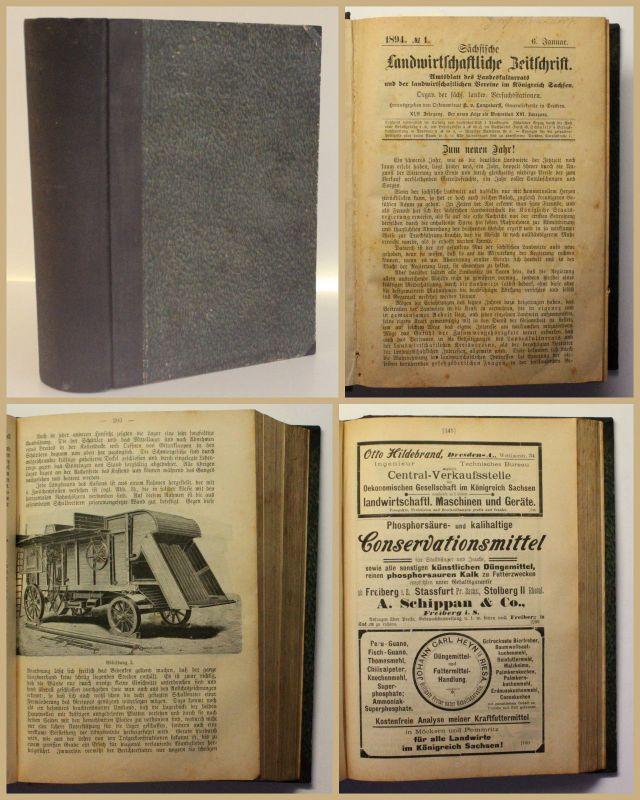 Sächsische Landwirtschaftliche Zeitung Jahrgang XLII 1894 Agrar Urproduktion xy