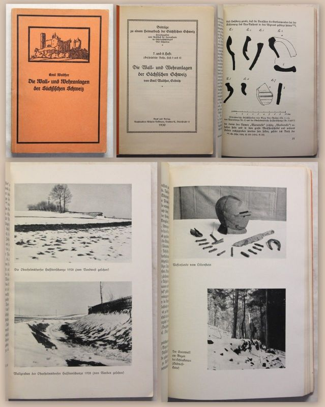 Walther Wall- und Wehranlagen der Sächsischen Schweiz 1930 Archäologie Sachsen