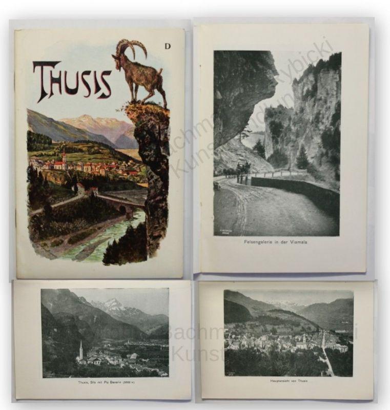Prospekt Thusis 1910 Kanada Ortskunde Geographie Landeskunde Geografie Reise xy