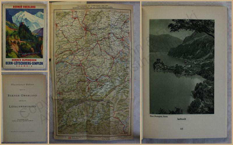 Orig. Werbeprospekt Führer durch das Berner Oberland 1929 Schweiz Ortskunde xy