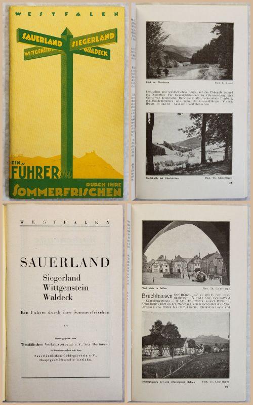 Reiseprospekt Reiseführer Westfalen Sauerland Siegerland Wittgenstein 1927 xz