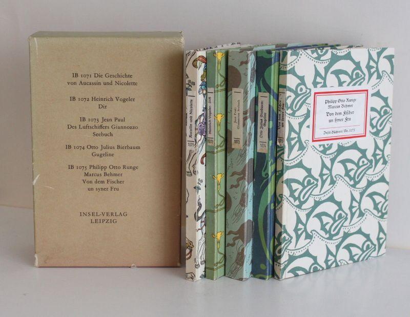 Konvolut 75 Jahre Insel-Bücherei 1987 5 Bücher Nr. 1071-1075 Weltliteratur xz