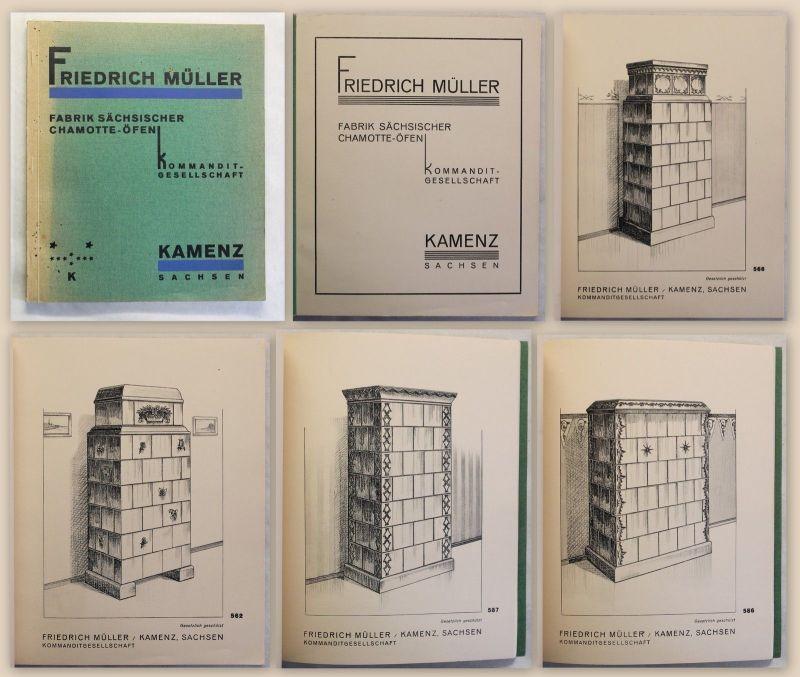 Katalog Friedrich Müller KG Fabrik Sächsischer Chamotte-Öfen Kamenz um 1915 xz