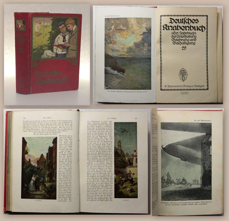 Deutsches Knabenbuch um 1900 Kinderbuch Erzählungen Physik Chemie Biologie xz