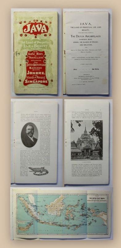 Akin-Higgins Java, The Land of perpetual Life snd Beauty um 1900 Landekunde xy
