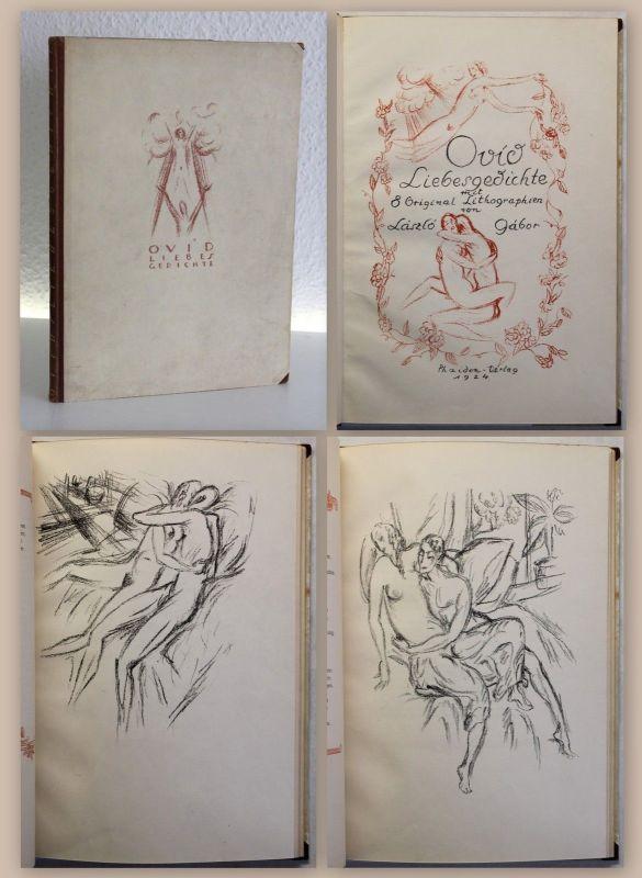 Ovid Liebesgedichte mit 8 Original Lithographien von Lásló Gábor Ex. 312/500 xz