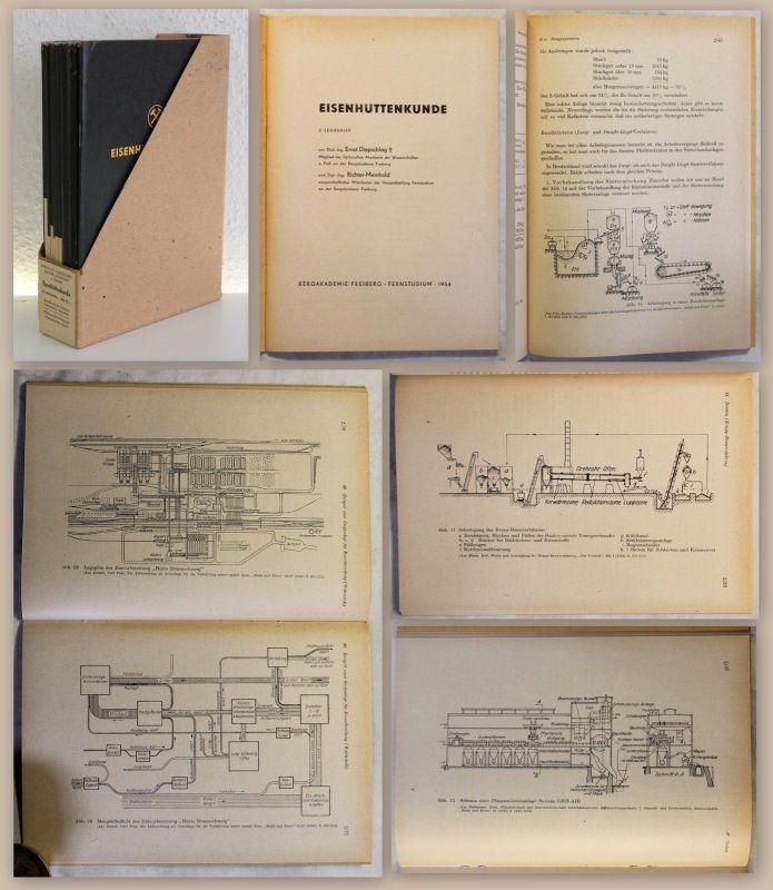 Bergakademie Freiberg Eisenhüttenkunde Lehrbriefe 2-14 1954 Metallurgie Handwerk