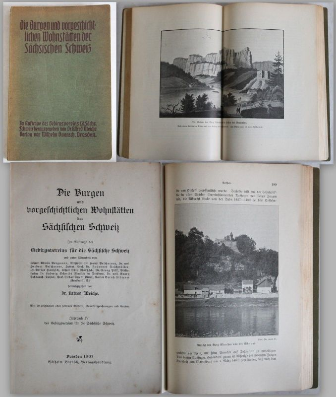 Meiche Die Burgen u. vorgeschichtlichen Wohnstätten der Sächsischen Schweiz 1907