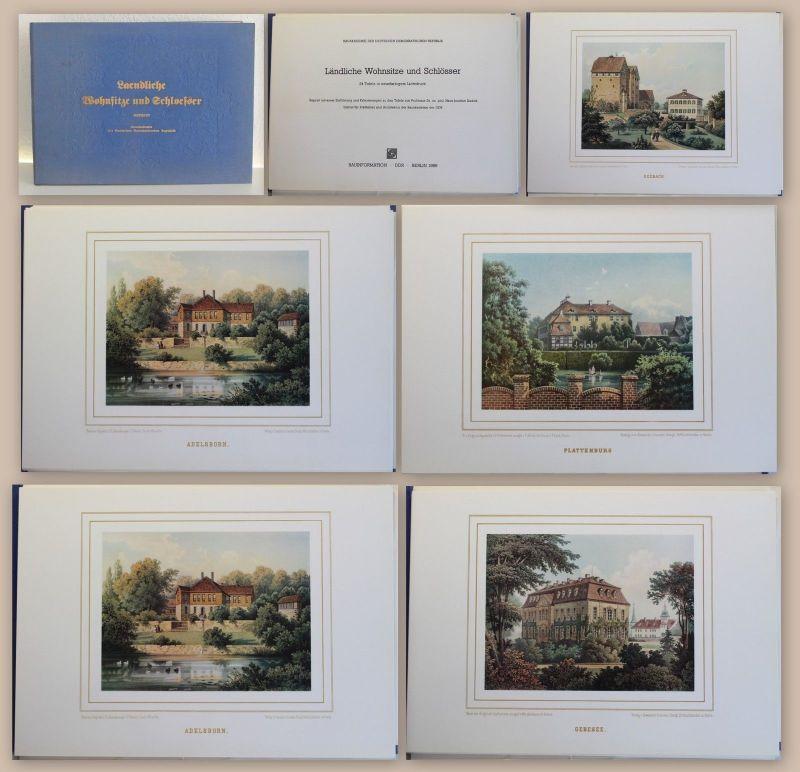 Ländliche Wohnsitze und Schlösser 1989 Reprint Mappe mit 24 Tafeln Kadatz xz