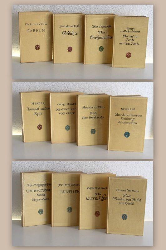 Konvolut 12 Bde Scherpe-Verlag ua Brentano Hauff Goethe Schiller Villers Werke