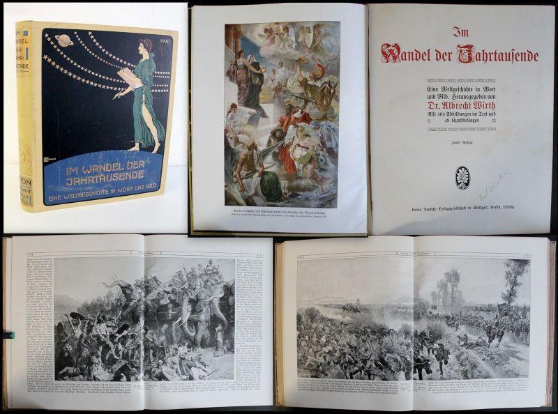 Wirth- Im Wandel der Jahrtausende - Weltgeschichte in Wort und Bild - um 1920 xz