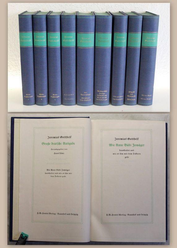 Gotthelf Große deutsche Ausgabe 9 Bände um 1940 Albert Bitzius Werke Novellen xz