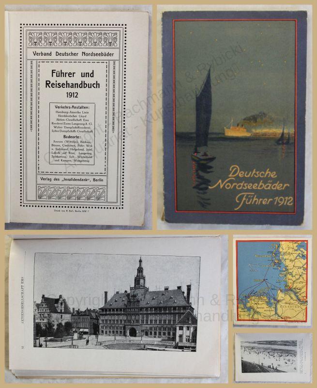 Orig. Prospekt Deutsche Nordseebäder 1912 Ortskunde Landeskunde Geografie xy