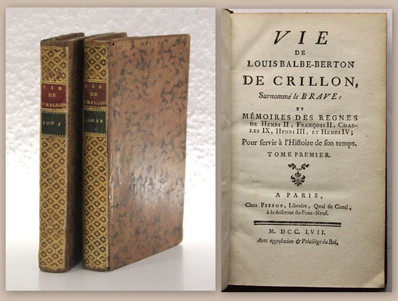 Lussan Vie de Louis Balbe-Berton de Crillon 1757 Geschichte Militär Frankreich