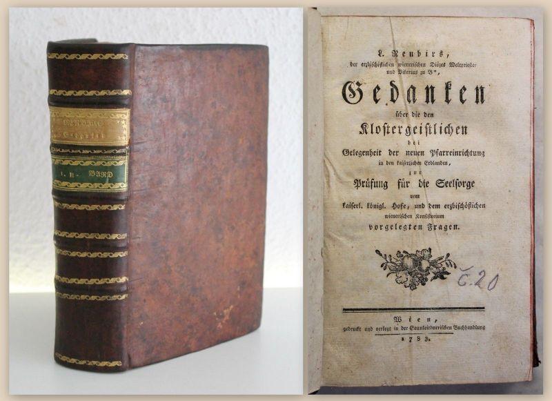 Ribner Renbirs Gedanken über die Klostergeistlichen EA Sammelband 1783/85 xz