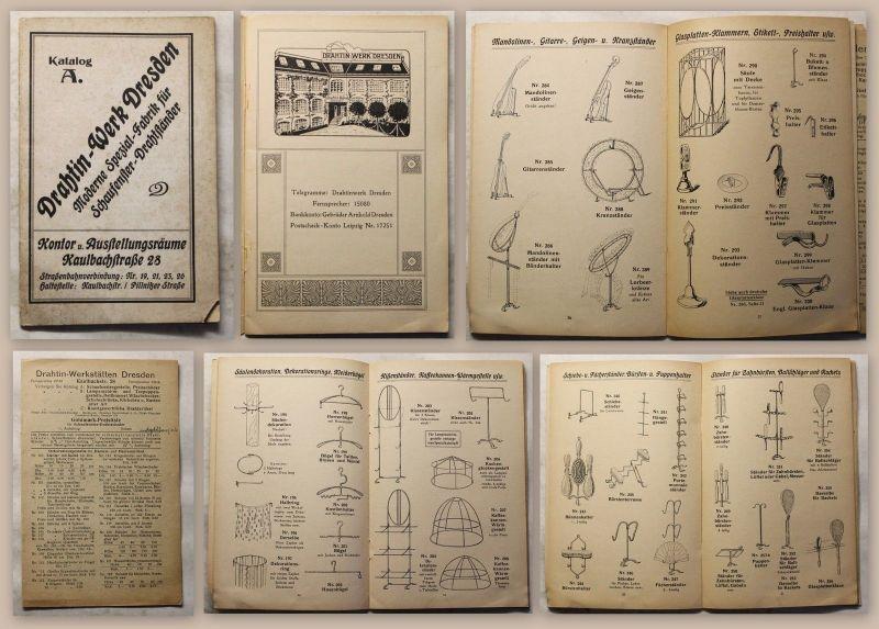 Drahtin-Werk Dresden Katalog A. Spezial-Fabrik Schaufenster-Drahtständer um 1900