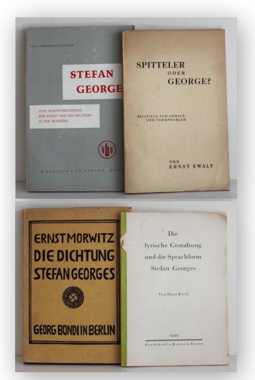Konvolut Stefan George 4 Bde um 1930 Gedichte Lyrik George-Kreis Belletristik xy