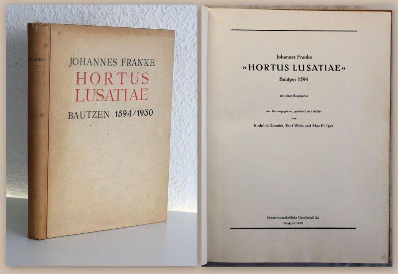 Franke Hortus Lusatiae Garten der Lausitz Biografie Botanik Pflanzenkunde xz