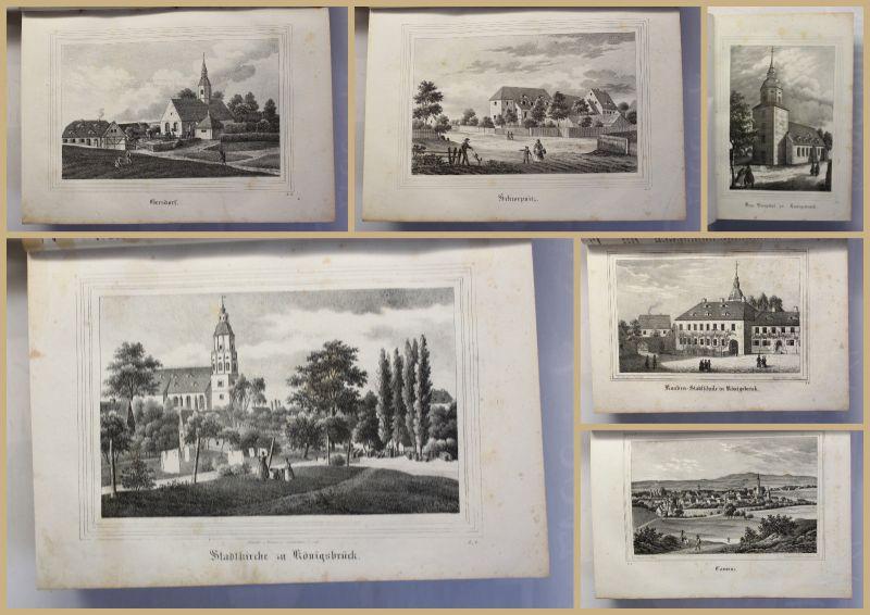 Schmitt Die Oberlausitz Kirchengalerie 1837 Landeskunde Sachsen mit Lithografien 1