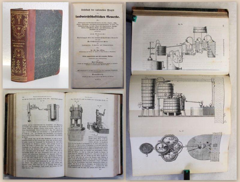 Siemens Lehrbuch Praxis der landwirtschaftlichen Gewerbe 1851 Brauerei Winzerei