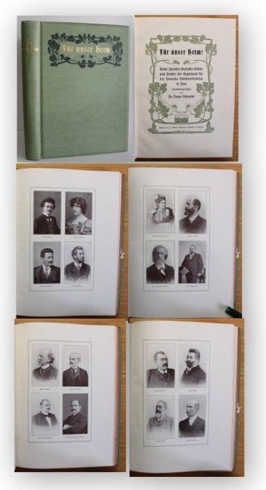 Schroeter Für unser Heim 1904 Schriftsteller Dichter Denker Jugendstil xy