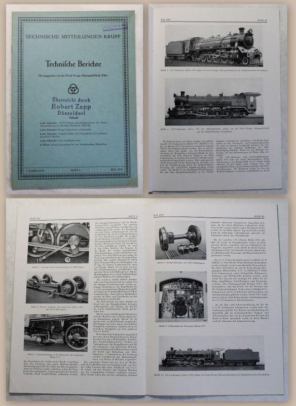 Technische Mitteilungen Krupp AG Essen Technische Berichte 7. Jg. Heft 4 1939 xz