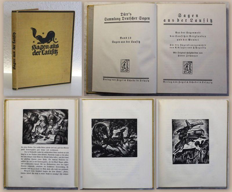 Kartzer Sagen aus der Lausitz 1928 mit Holzschnitten von H. Zethmeyer Sachsen xz