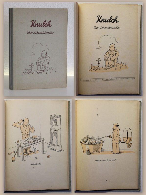 Max Richter Knulch der Lebenskünstler um 1950 Humor Satire Komic Comic Witz xz