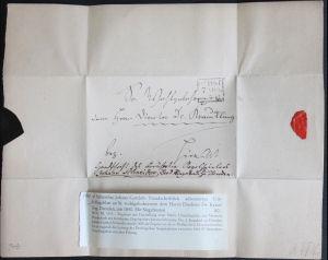 Autograph Handschrift Briefumschlagblatt von Johann Gottlob Schneider um 1840