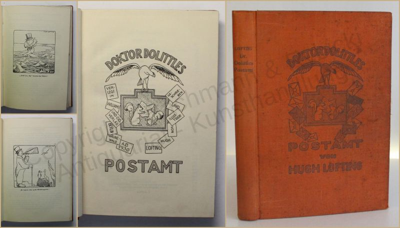 Lofting Doktor Dolittles Postamt 1930 Kinderbuch Erzählungen Geschichten xy
