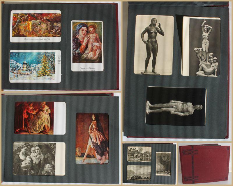 Fotoalbum AK Kunstpostkarte Haus der Kunst München 30er/40er Erotik Akt sf