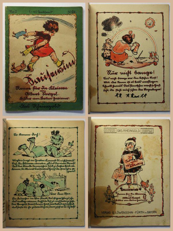 Sergel Sausewind Reime für die Kleinen Das Rheingold Kinderbuch um 1925 xz
