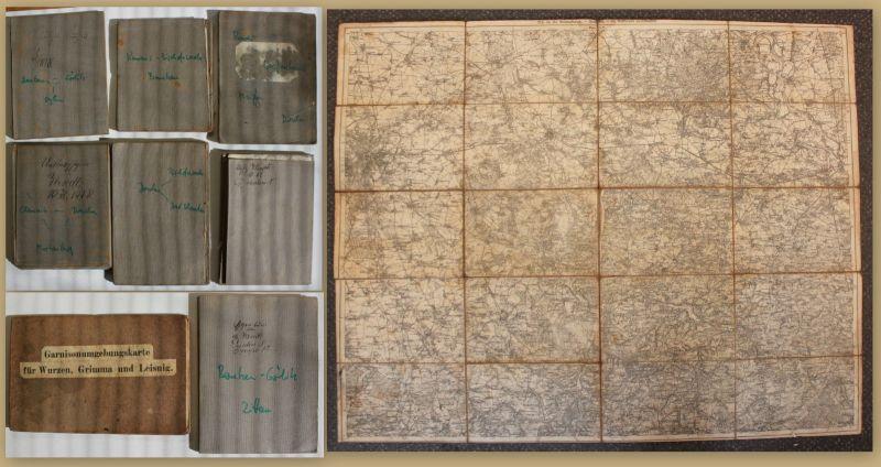Konvolut 8 Messtischblätter um 1930 Messtischblatt Dresden Görlitz Kamenz sf
