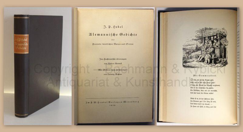 Hebel Alemannische Gedichte für Freunde ländlicher Natur und Sitten 1929 xz