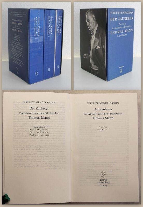 Mendelssohn Der Zauberberg Leben des Thomas Mann Biografie 3 Bände 1997 xz