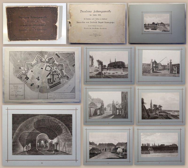 Dresdenes Festungswerke im Jahre 1811 (1890) Ansichten nach Fr.A. Kanneqießer xy