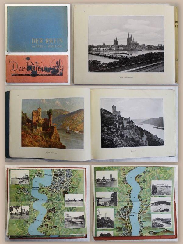 Malkowsky Der Rhein von Mainz bis Düsseldorf um 1920 + Panorama Landeskunde xz