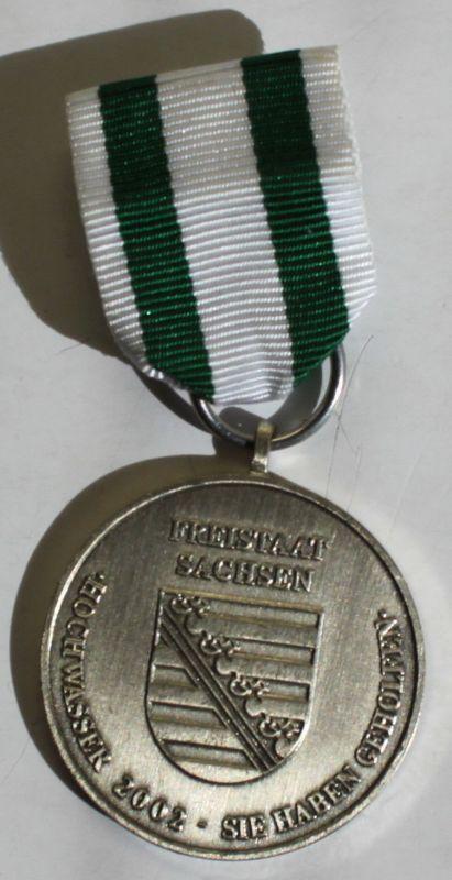 Medaille Hochwasser-Medaille Sachsen 2002 Neusilber Geschichte Freistaat sf