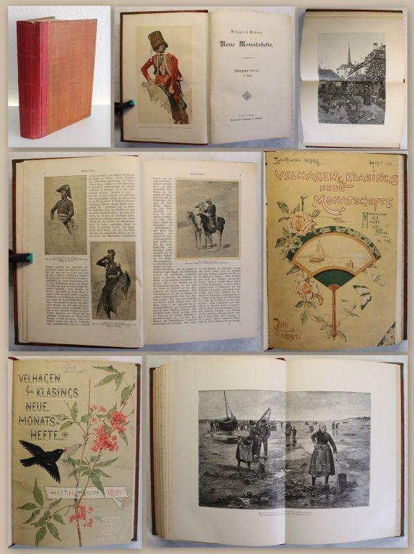 Velhagen & Klasings Neue Monatshefte Jahrgang 1890/91 Heft 7-12 Geschichte xz