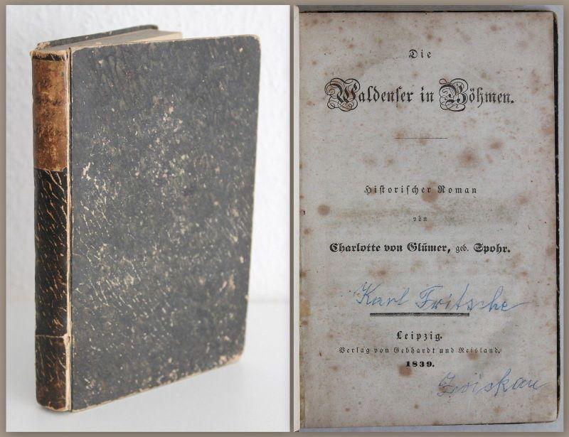 Glümer Die Waldenser in Böhmen Historischer Roman 1839 Erstausgabe Geschichte xz