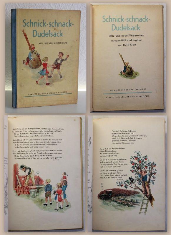 Ruth Kraft Schnick-Schnack Dudelsack um 1925 Kinderreime Illustrationen Wernicke