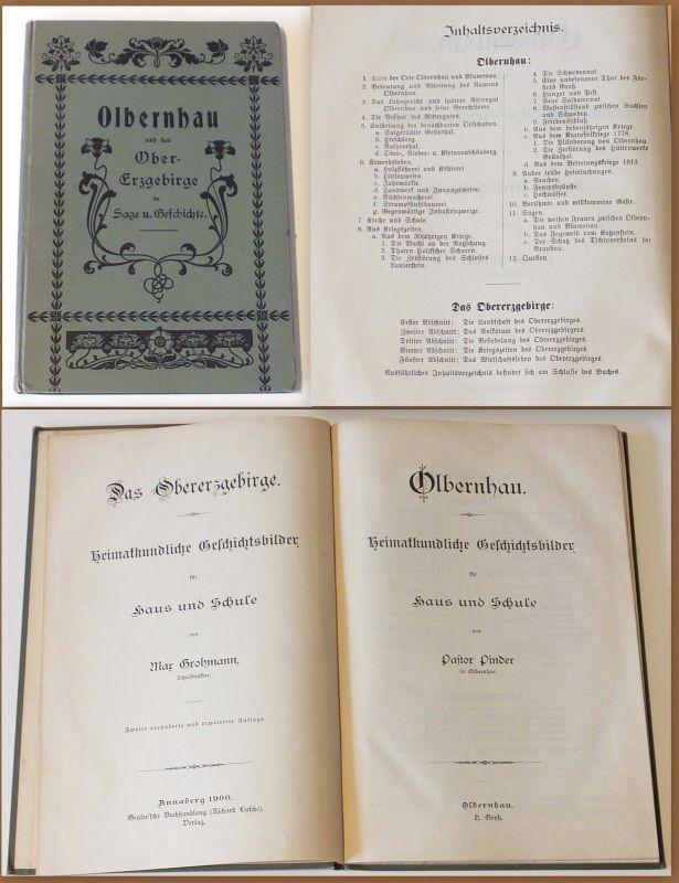 Olbernhau - Heimatkundliche Geschichtsbilder um 1900 Erzgebirge top rara