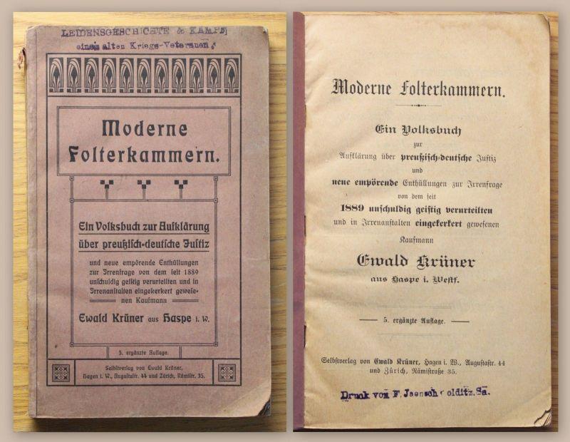 Krüner Moderne Folterkammern um 1910 Geschichte Justiz Verurteilungen Preußen xz