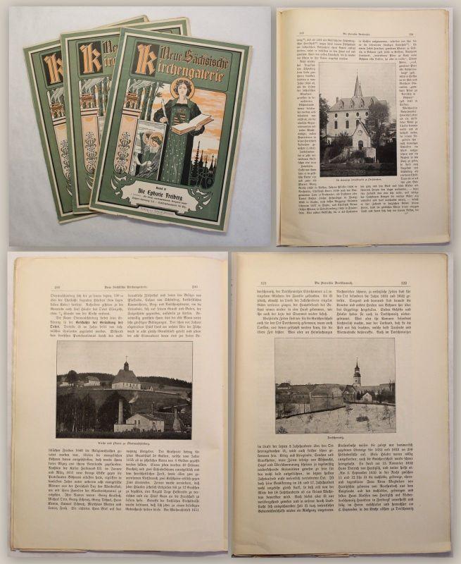 Neue Sächsische Kirchengalerie Band 2 Sayda um 1900 3 Hefte Ortskunde Sachsen xz