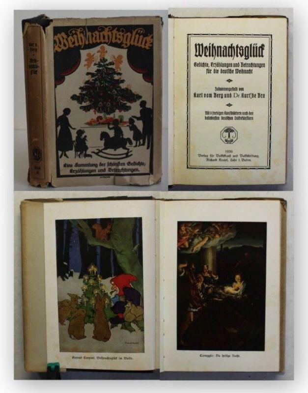 Berg Weihnachtsglück 1926 Gedichte Erzählungen Winter Kinderbuch illustriert xy