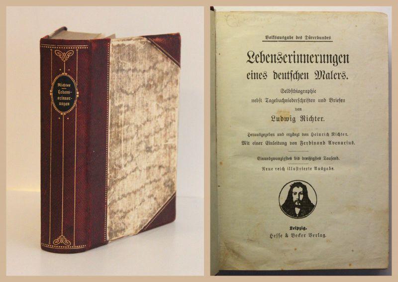 Ludwig Richter Lebenserinnerungen eines deutschen Malers 1909 Selbstbiografie xz
