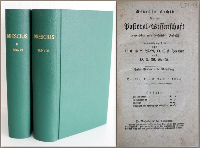 Neuestes Archiv der Pastoral-Wissenschaft 1824-1827 -3 Bände in 2 Büchern xz